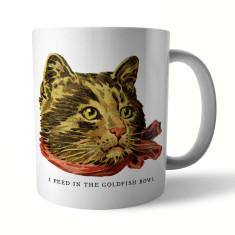 Naughty Kitty: Goldfish Ceramic Mug
