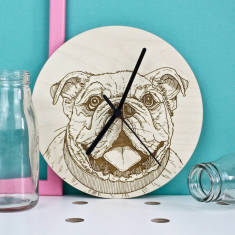 Bulldog Portrait Clock
