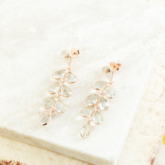 Rosie Flutter Earrings With Green Amethyst