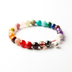 I love chakras' crystal balancing bracelet with bell