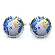 Cockatoo Cufflinks in Blue