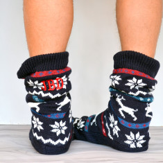 Men's Personalised Slipper Sock Boots