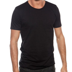 Organic cotton men's tee in black