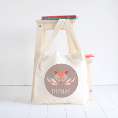 Fox personalised library bag