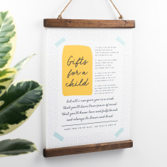 Christening Gift Nursery Poem Print