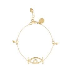 Adinkra Love Eye Charm Bracelet