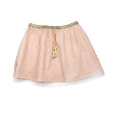 Girl's tutu party skirt in peach
