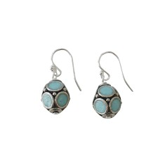 Bellini Drop Earrings Silver and Soft Blue