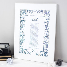 Personalised Gift For Dad Poem Print