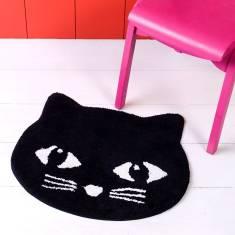 Cute Soft Black Cat Rug