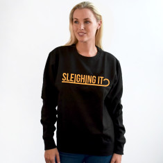 Sleighing It Neon Unisex Sweatshirt