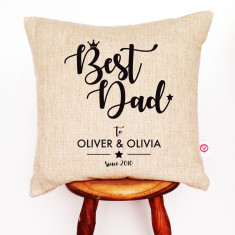 Best dad personalised cushion cover