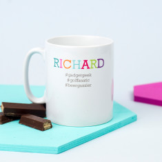 Personalised #Hashtag Mug