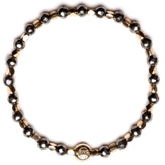 Signature bracelet in pyrite