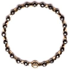 Signature bracelet in pyrite