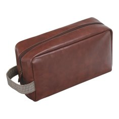 Jacob Jones London Wash Bag in Khaki Or Tan