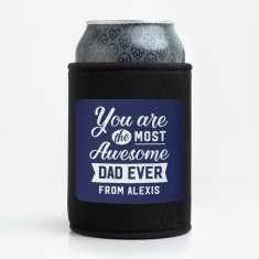 Personalised Most Awesome Stubby Holder - Various Colours