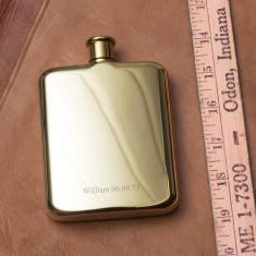 Gustav Personalised 14 Karat Gold Plated Hip Flask
