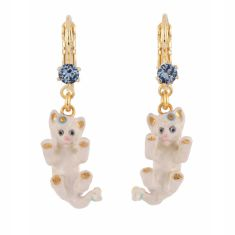 Playful Kitten French Hook Earrings