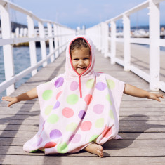 Beach Balls Kids' Poncho