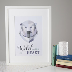 Wild Heart Polar Bear Print