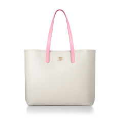 Hampton Beige & Blush Pink Nappa Leather Tote