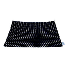 Black and White Polka Dot pet mat for feed bowls