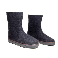 Custom Made Women's Wool Snow Boots In Black