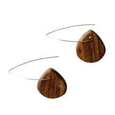 Natural wood aspen earrings