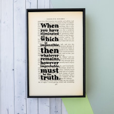 Sherlock Holmes impossible quote print