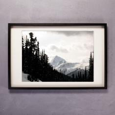 Snowscape Photographic Print in Black & White