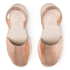 Alohas Junior Rose Gold Leather Sandals