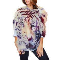 Cashmere Tiger Printed Scarf