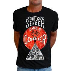 Climb and conquer men's black t-shirt