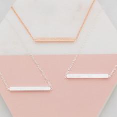 Personalised bridal party shimmer bar necklace wedding set