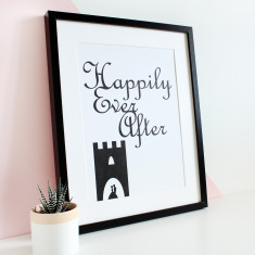 Happily ever after A3 print