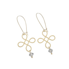 Loop element earrings