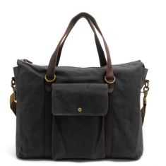 Canvas tote bag shoulder bag laptop briefcase in grey