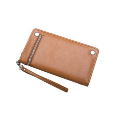 Sybella Leather Wallet / Travel Wallet (Tan)