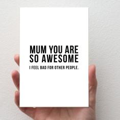 Awesome Mum Card