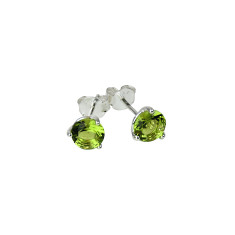 August birthstone sterling silver stud earrings