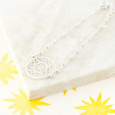 Mandala Bracelet In Silver