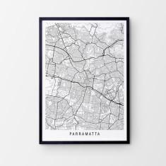 Parramatta minimalist map print