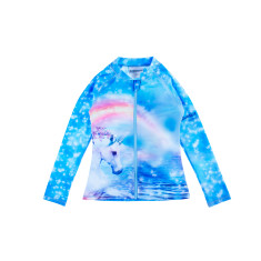 Unicorn Girls Long Sleeve Rash Top