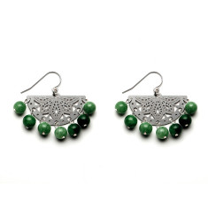 Emerald Paloma Beaded Earrings
