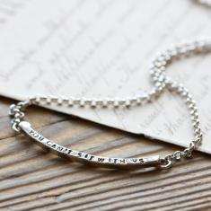 Personalised Curved Bar Necklace