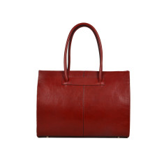 Florence red leather work bag for women