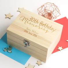 Personalised 30th Birthday Memories Keepsake Box