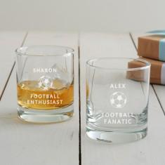 Personalised Football Tumbler Glass