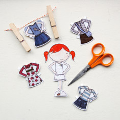 Additional Clara Paper Doll Outfits